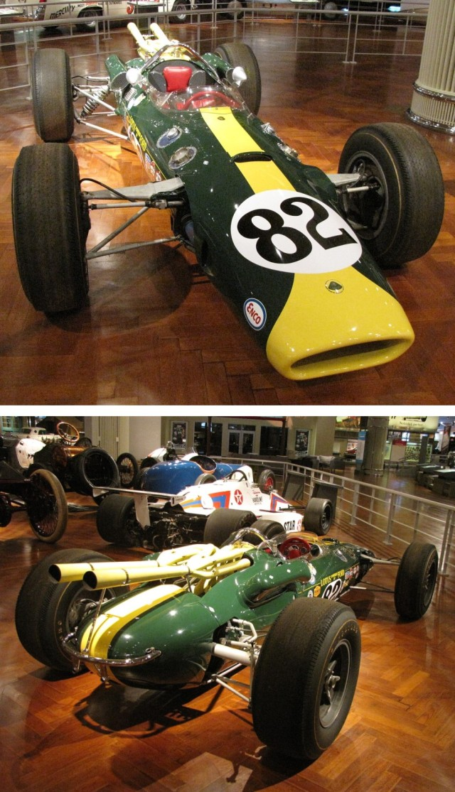 2 Views Lotus-Ford Indy Winner